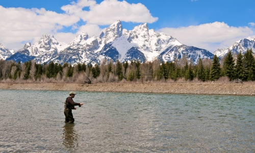 Fly fishing with some Wyoming boys